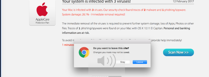 Your System Is Infected With 3 Viruses POP-UP Scam