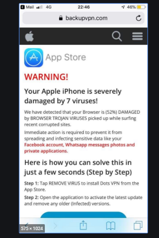 Your Apple iPhone may be severely damaged by viruses! Scam